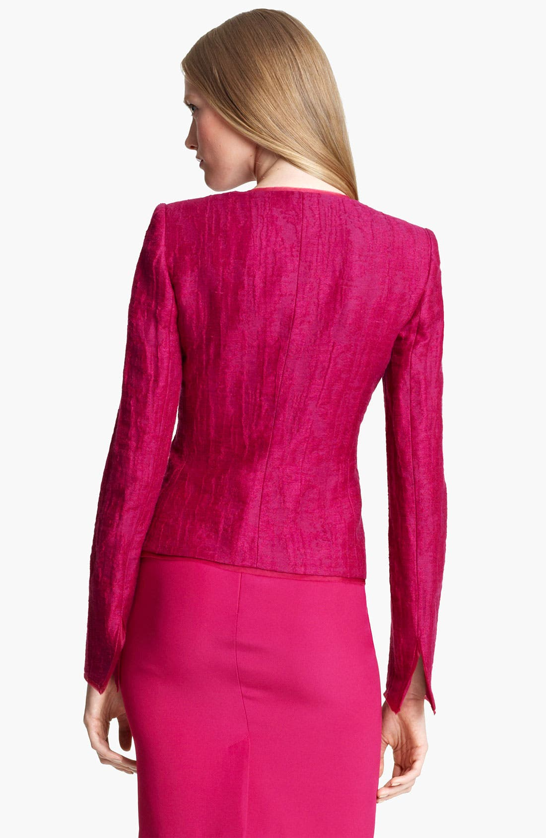 Alternate Image 2  - Armani Collezioni Jewel Button Jacket