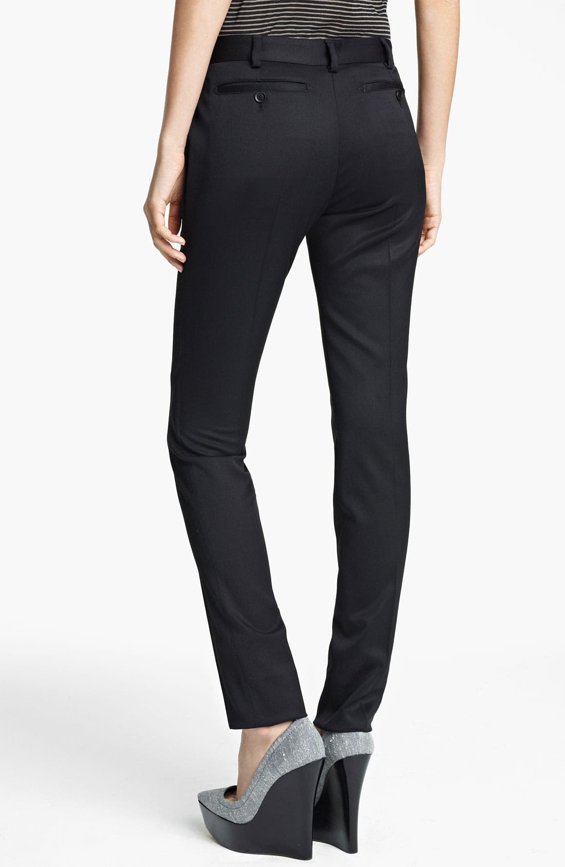 Alternate Image 2  - Burberry Prorsum Skinny Stretch Wool Pants
