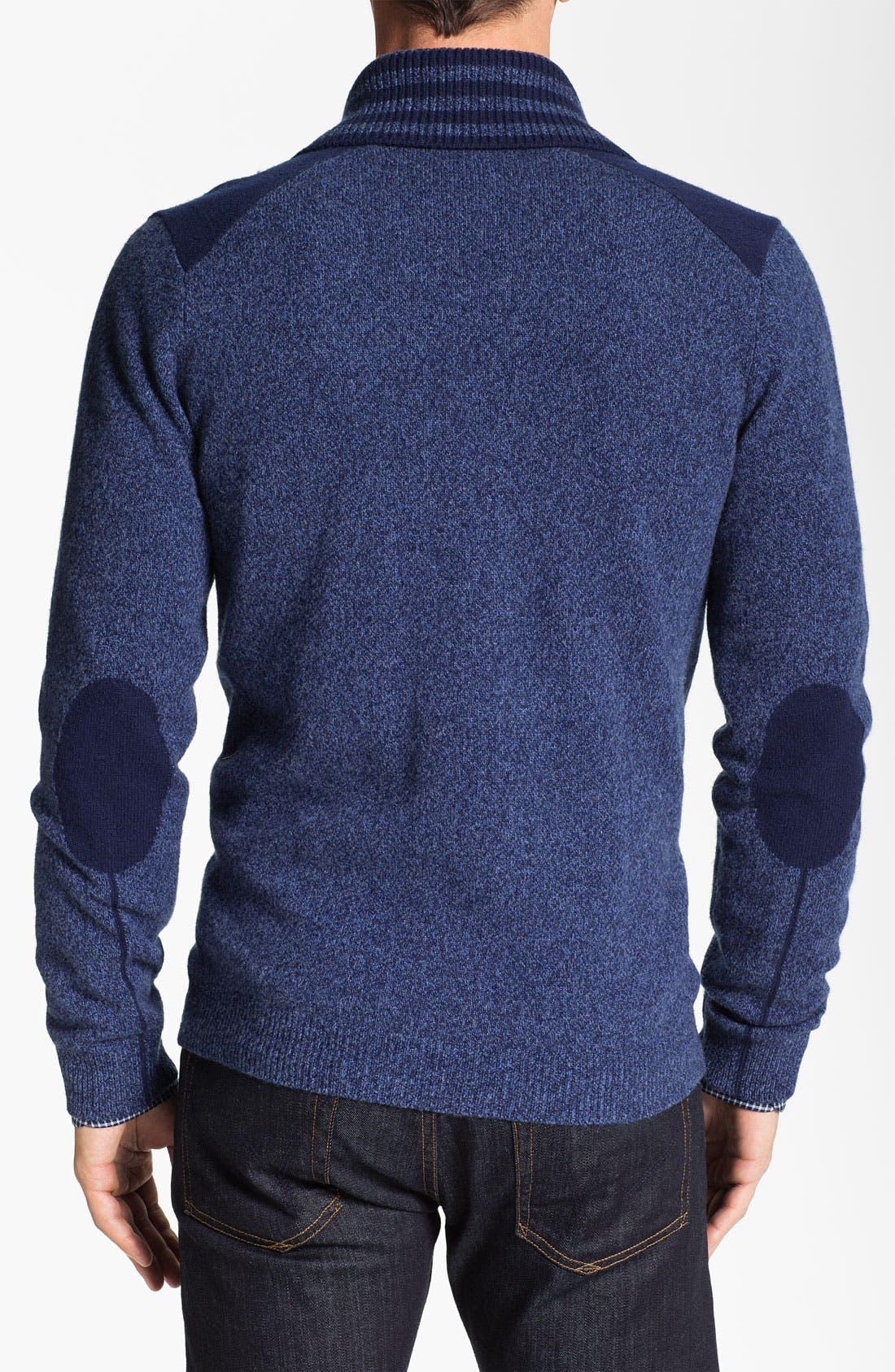 Alternate Image 2  - Façonnable Shawl Collar Wool Cardigan