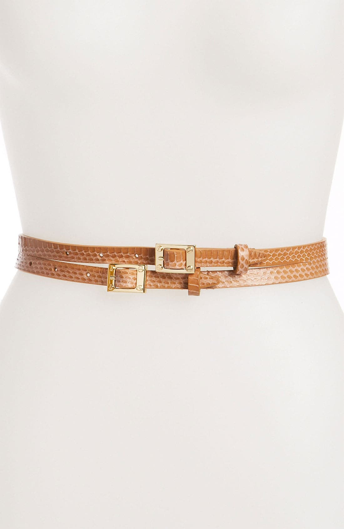 Alternate Image 1 Selected - Rachel Zoe 'Signature' Screw Head Buckle Double Belt