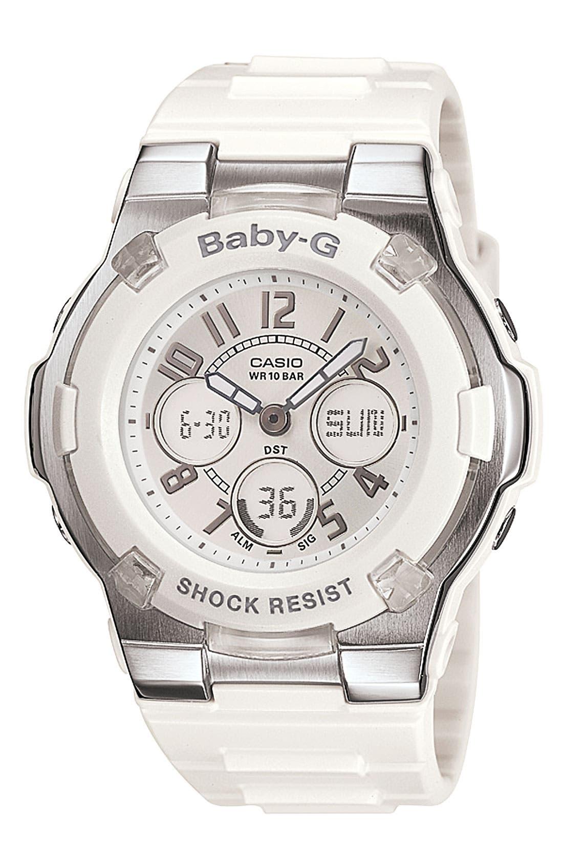 Main Image - Baby-G Dual Movement Watch, 44mm x 40mm