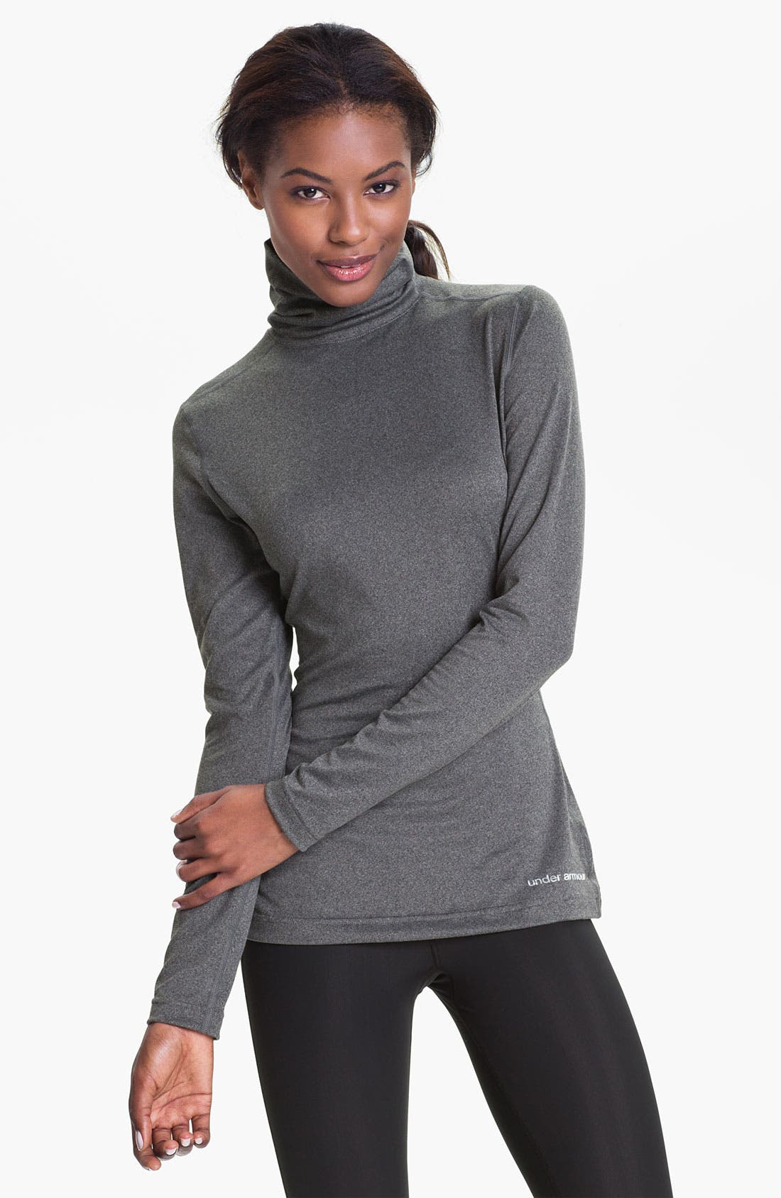 Alternate Image 1 Selected - Under Armour HeatGear® Touch Turtleneck