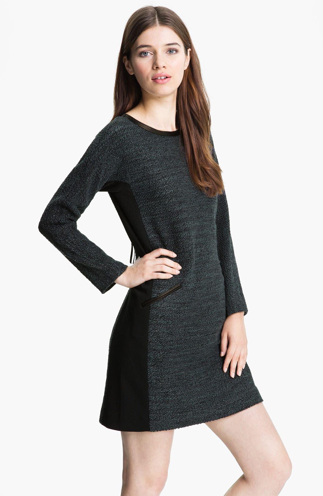Alternate Image 1 Selected - Rebecca Taylor Bouclé Shift Dress