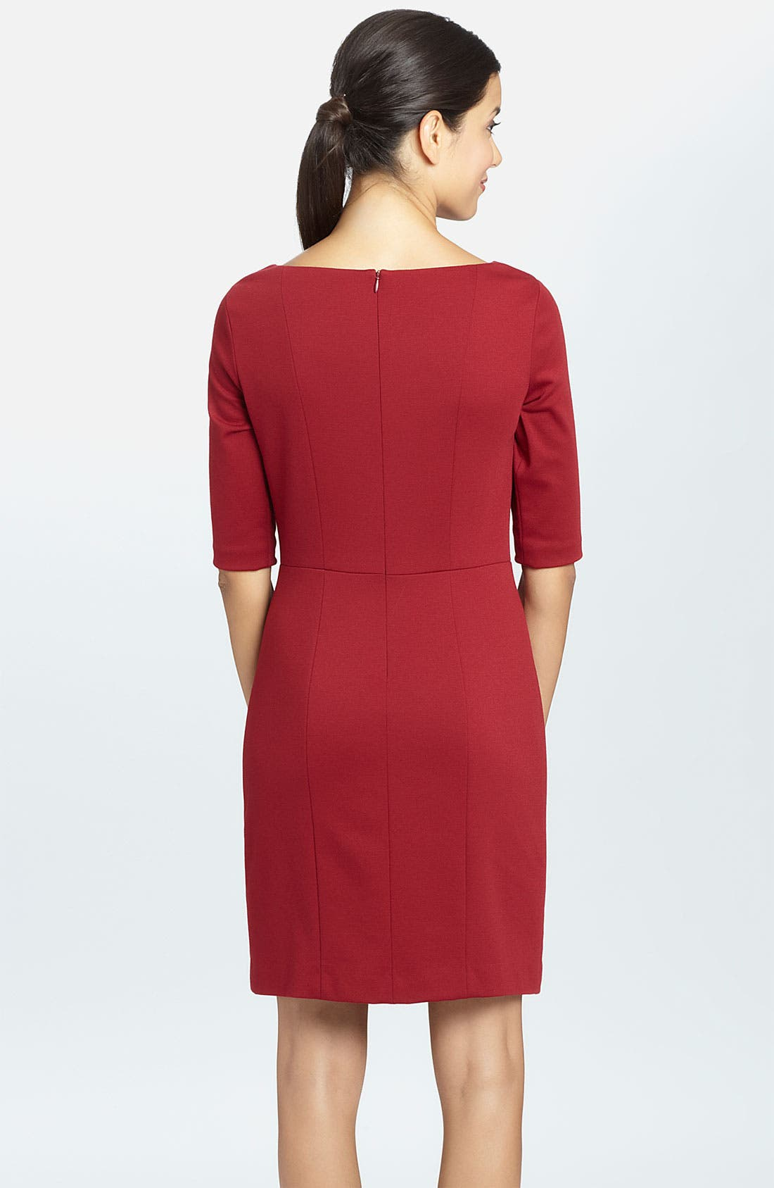 Alternate Image 2  - Cynthia Steffe 'Parker' Front Keyhole Ponte Sheath Dress