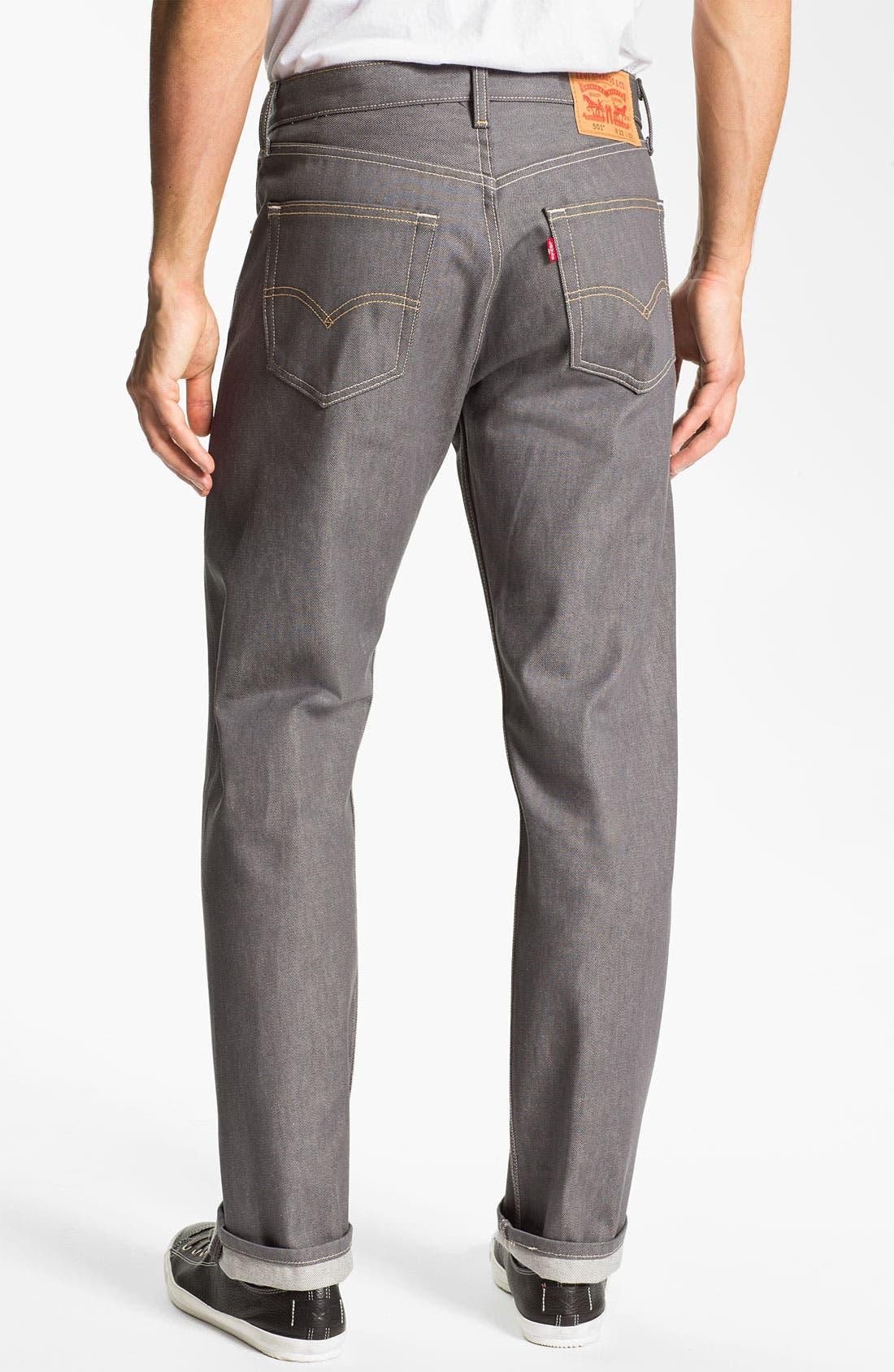 Alternate Image 2  - Levi's® Red Tab™ 501® Straight Leg Jeans (Grey Rigid) (Regular & Tall)