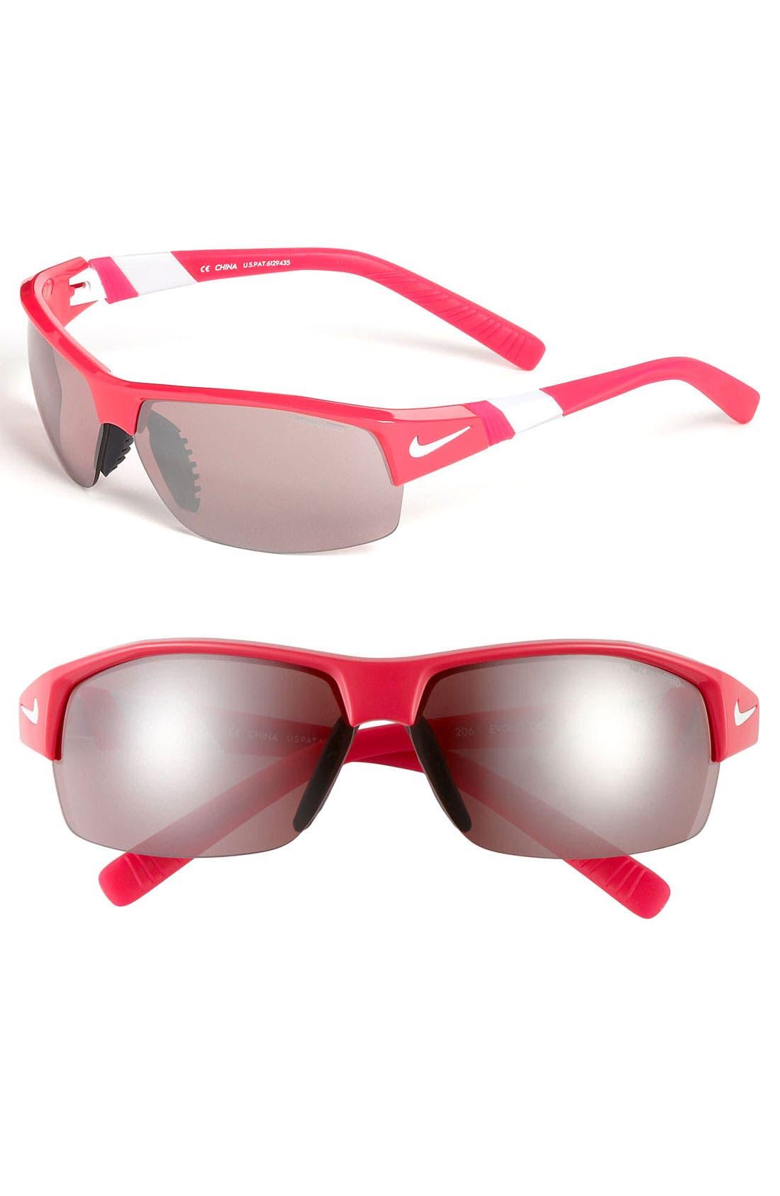 Main Image - Nike 'Show X2.E' 69mm Semi Rimless Sunglasses