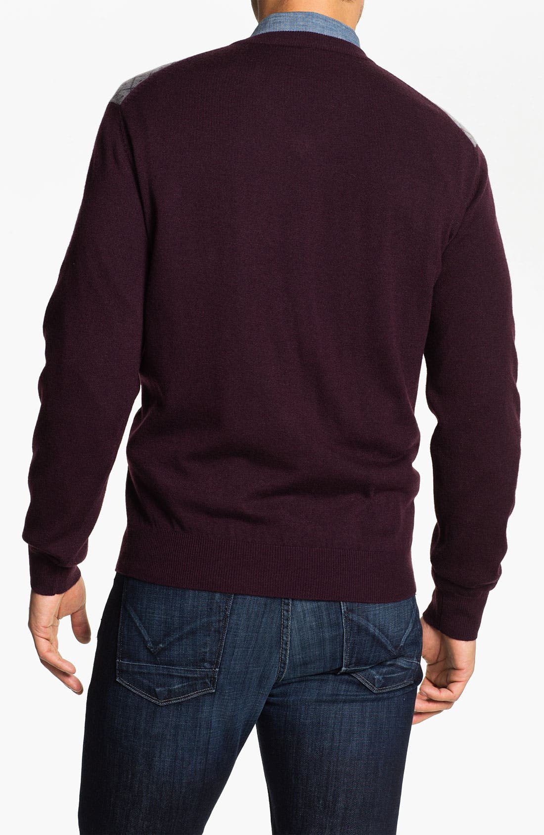 Alternate Image 2  - Toscano Merino Wool Blend V-Neck Sweater