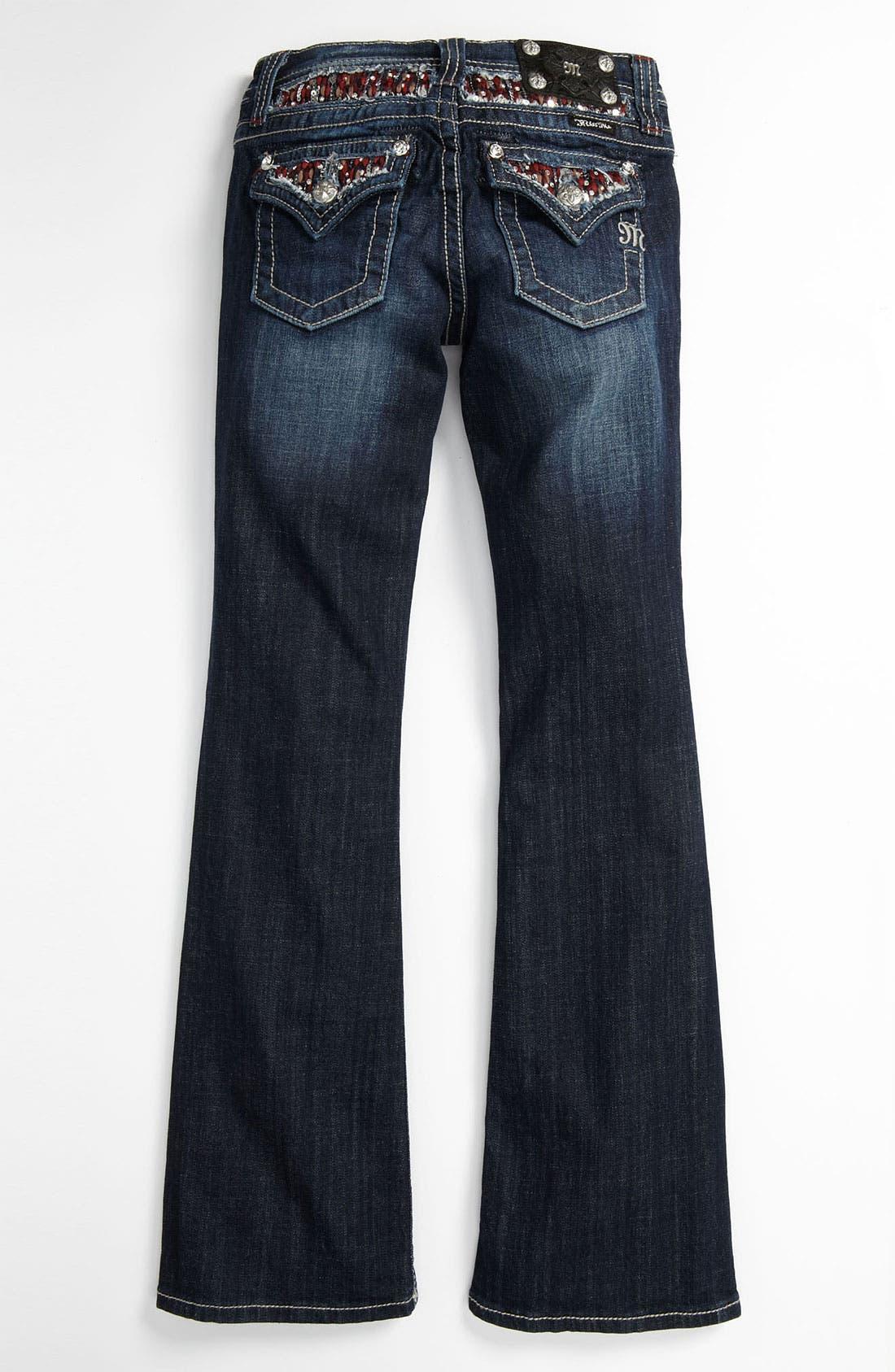 Alternate Image 1 Selected - Miss Me Embellished Bootcut Jeans (Big Girls)