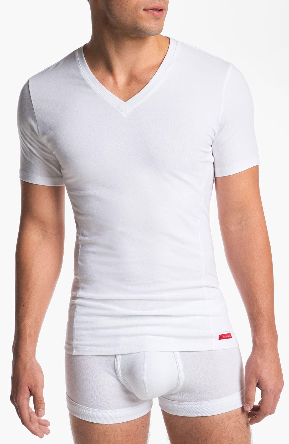Alternate Image 1 Selected - Calvin Klein 'Pro Stretch' Slim Fit V-Neck T-Shirt