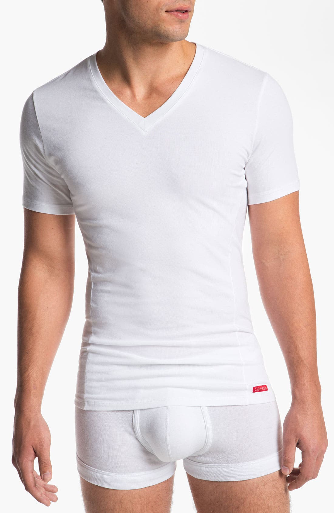 Main Image - Calvin Klein 'Pro Stretch' Slim Fit V-Neck T-Shirt