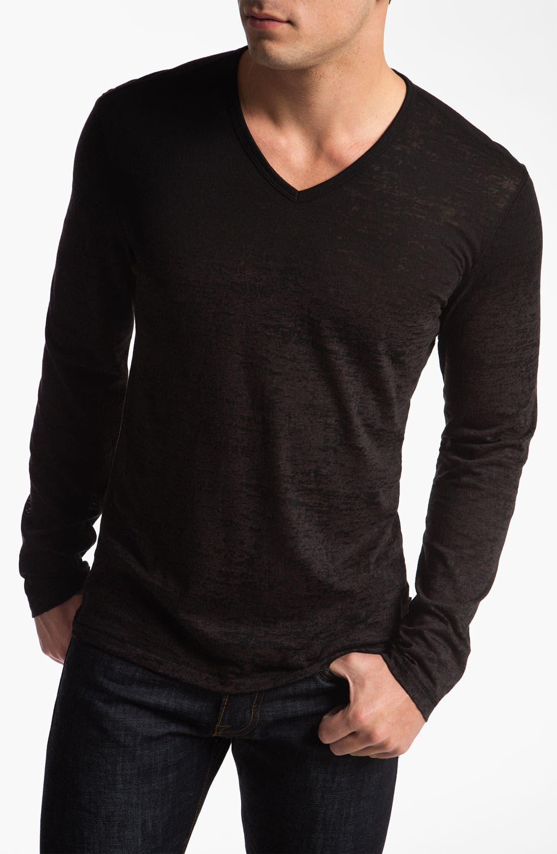 Main Image - John Varvatos Star USA Long Sleeve V-Neck T-Shirt