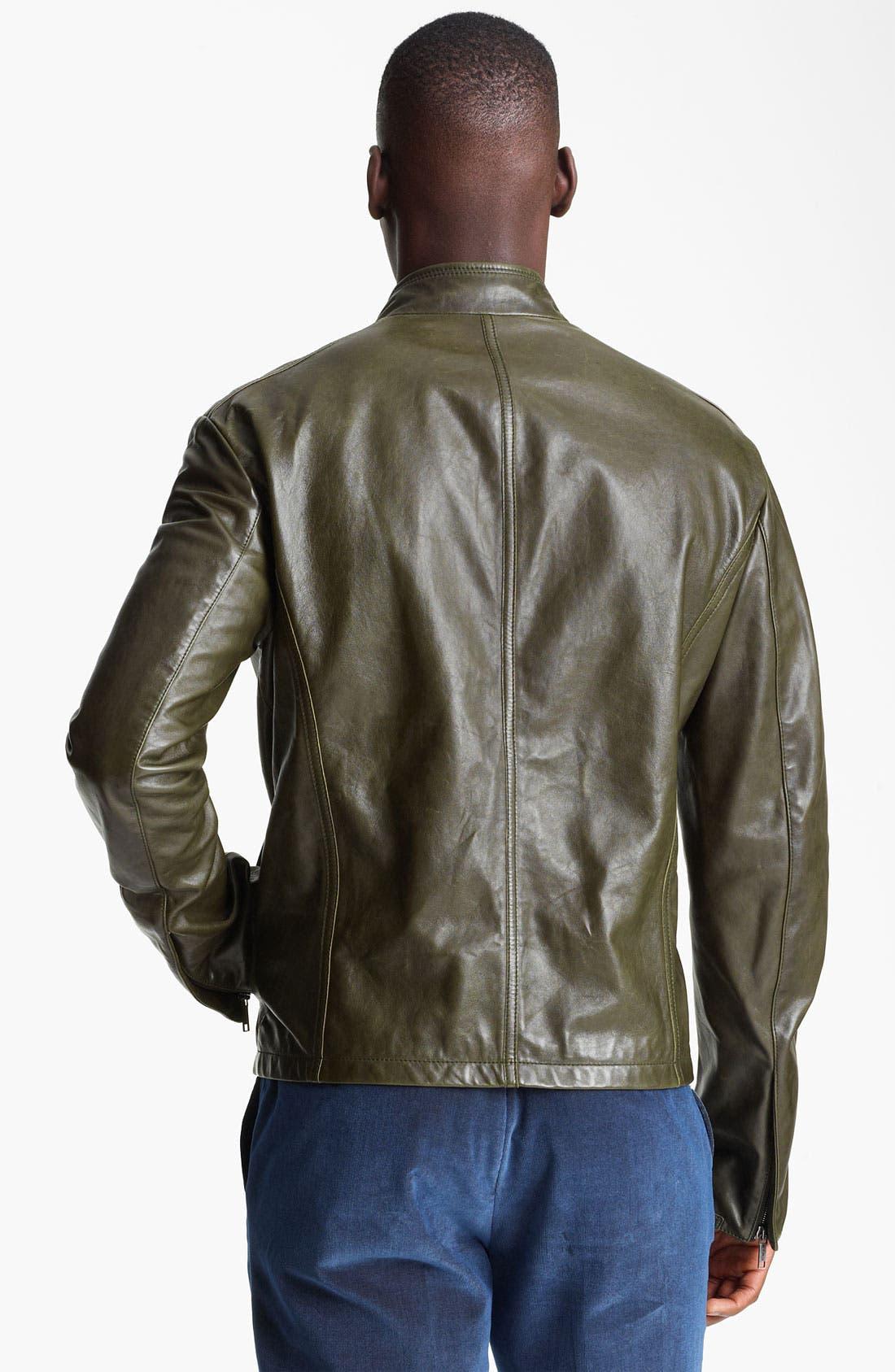 Alternate Image 2  - Etro Leather Moto Jacket