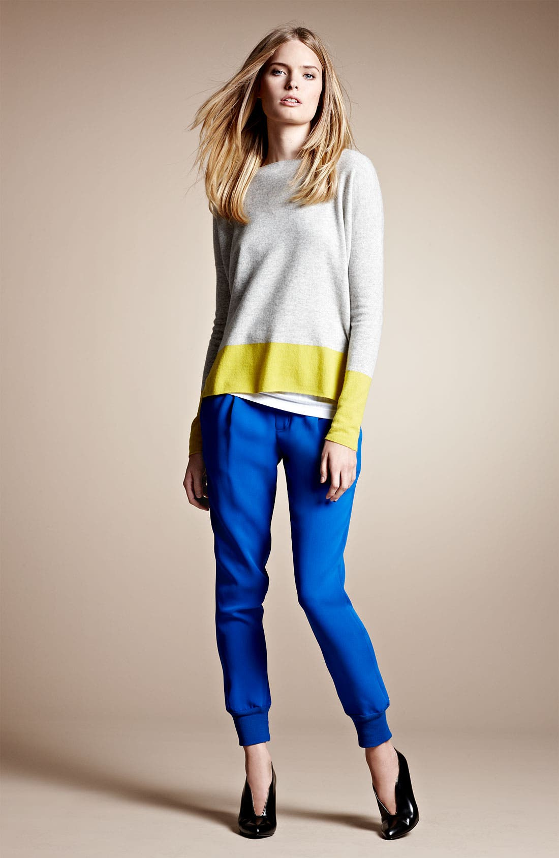 Alternate Image 4  - Vince Colorblock Cashmere Sweater