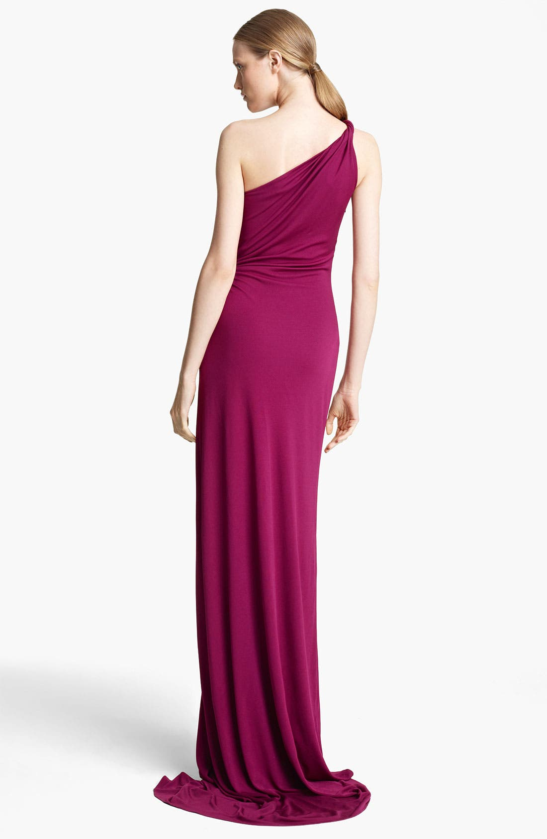 Alternate Image 2  - Emilio Pucci One Shoulder Jersey Gown