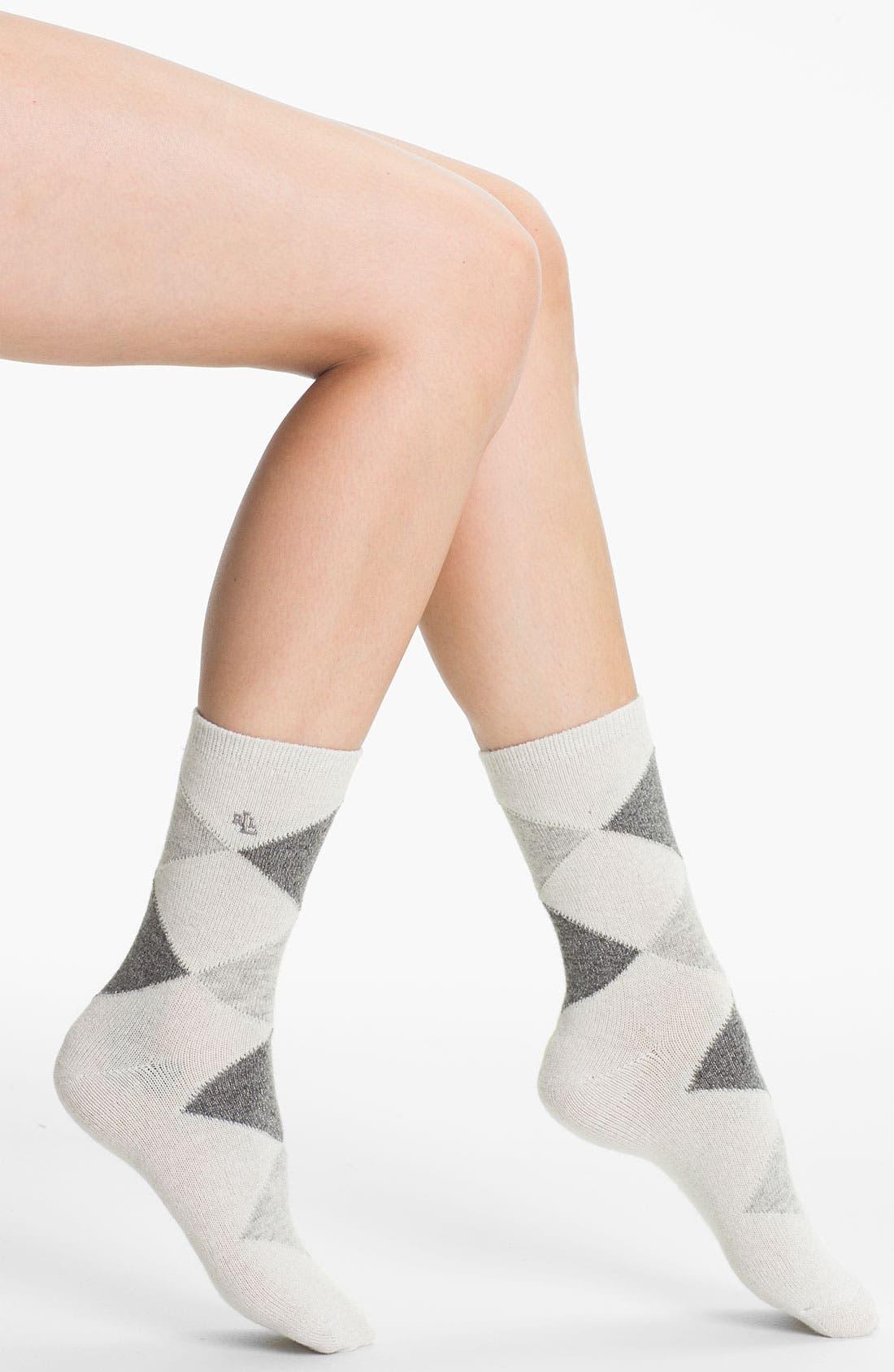 Main Image - Ralph Lauren Argyle Crew Socks
