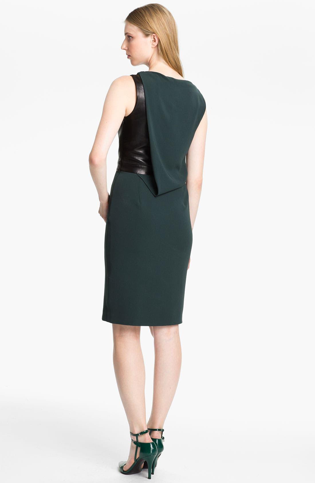 Alternate Image 2  - Alexander Wang Crepe & Leather Dress