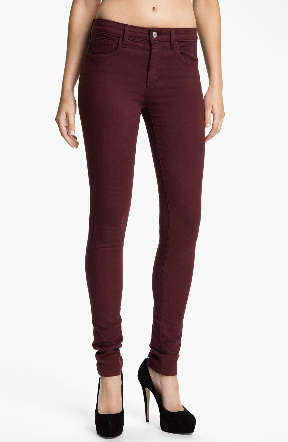 Alternate Image 1 Selected - Joe's Skinny Stretch Jeans (Bordeaux)