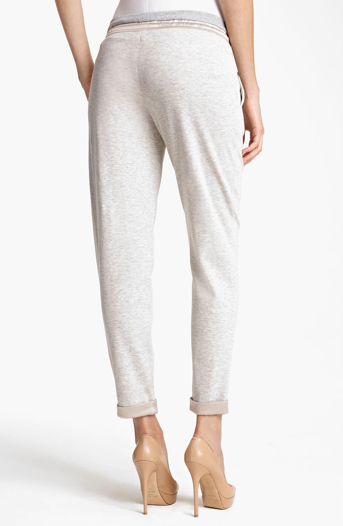 Alternate Image 2  - Fabiana Filippi Slouchy Jersey Pants