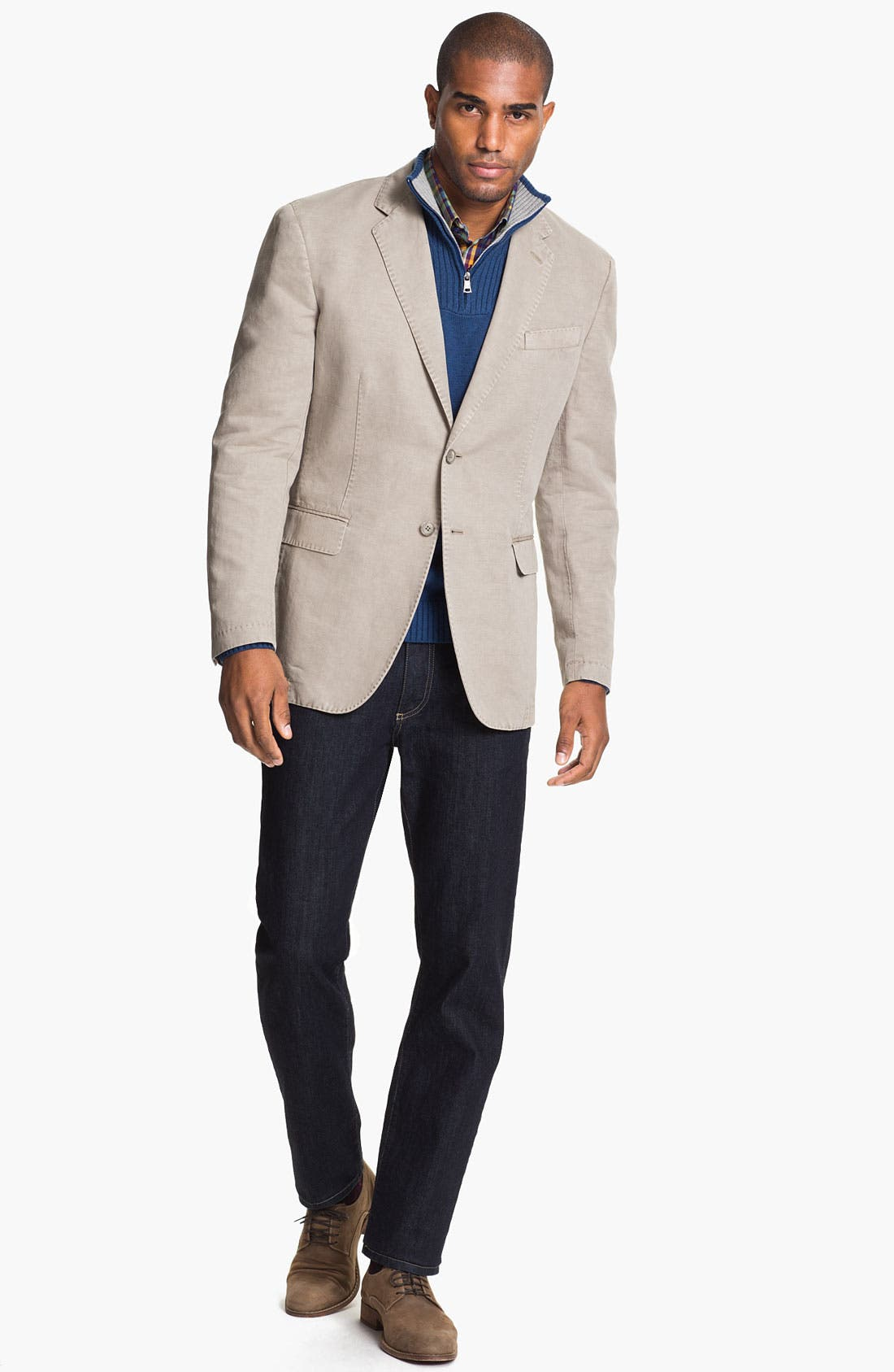 Alternate Image 4  - Canali Washed Cotton & Linen Sportcoat