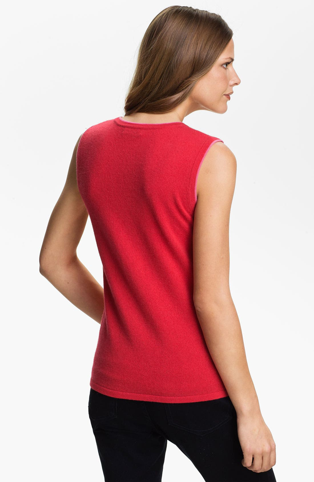 Alternate Image 2  - Lauren Hansen Tipped Cashmere Shell