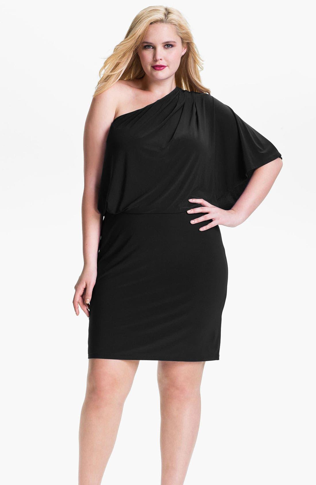 Main Image - Jessica Simpson One Shoulder Matte Jersey Dress (Plus)