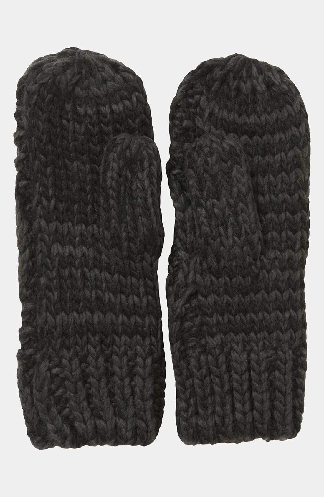Alternate Image 2  - Topshop Cable Knit Mittens