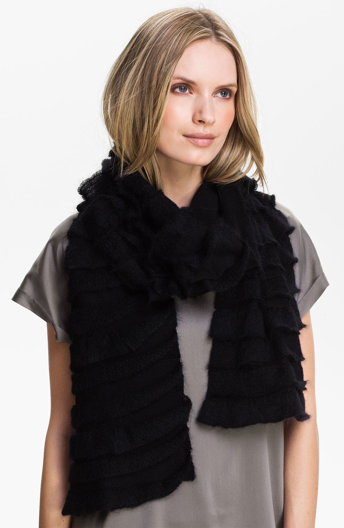 Main Image - Eileen Fisher Ruffle Scarf (Online Exclusive)