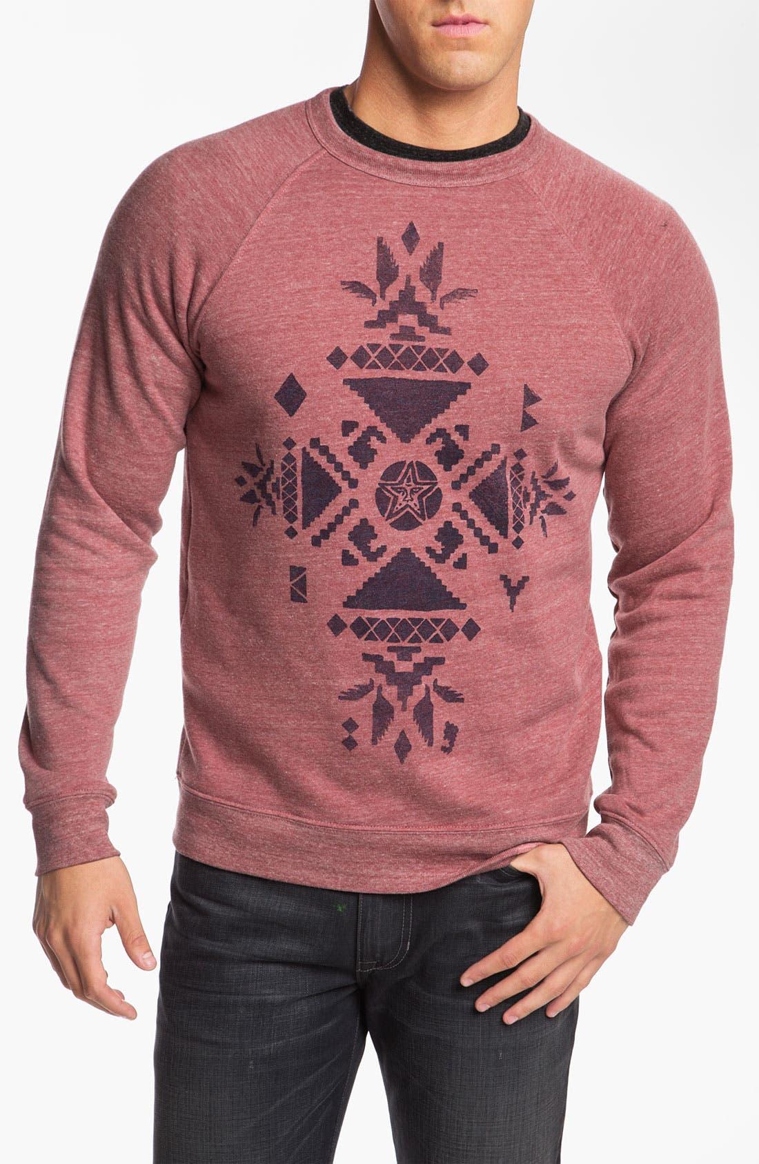 Alternate Image 1 Selected - Obey 'Desert Star' Graphic Crewneck Sweatshirt