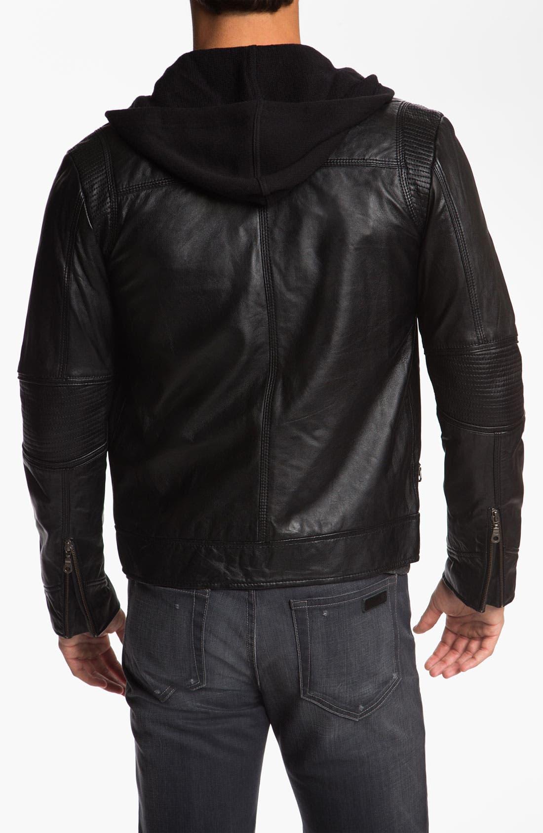 Alternate Image 2  - Howe 'Hellz Bellz' Leather Moto Jacket