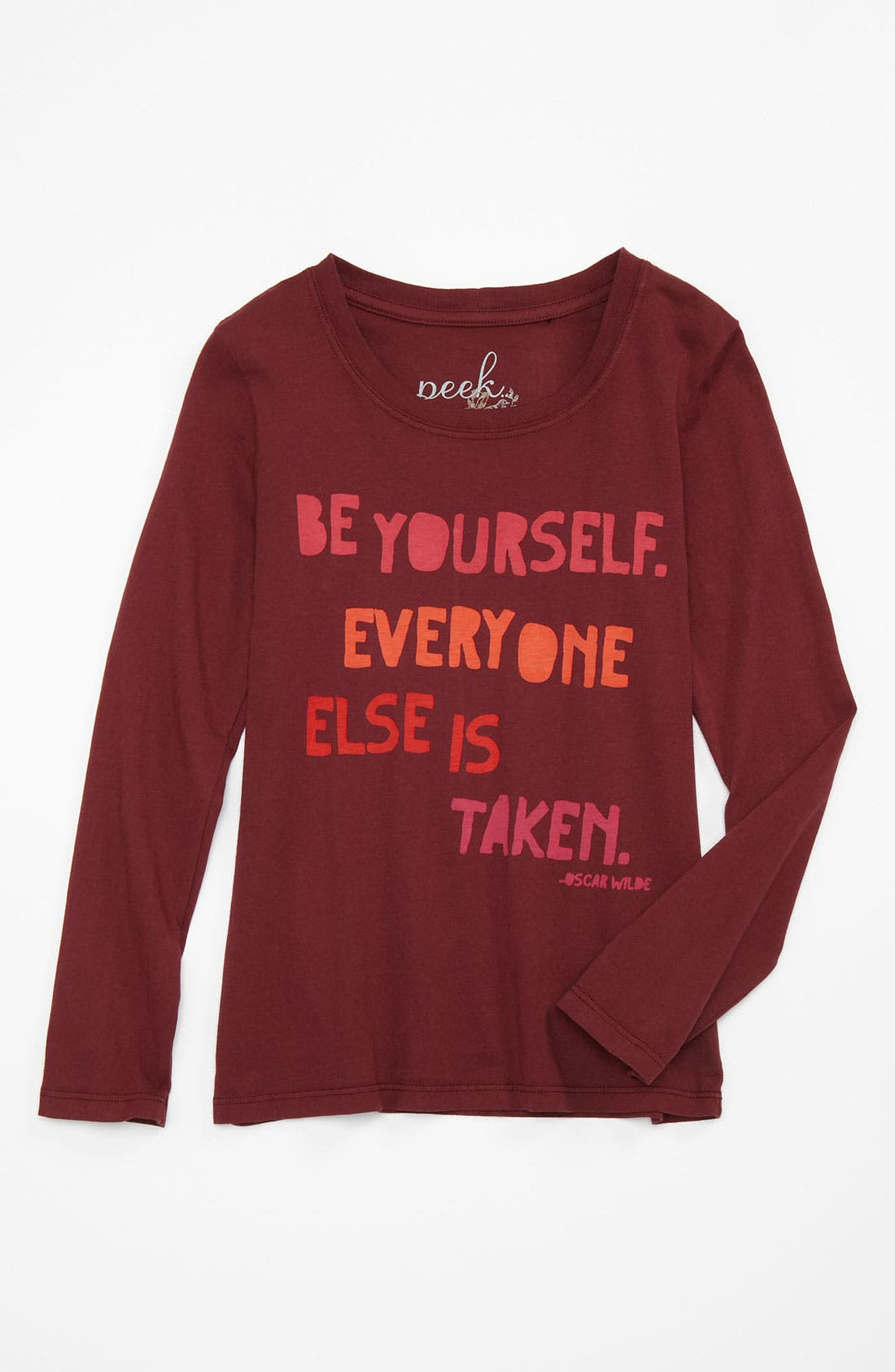 Alternate Image 1 Selected - Peek 'Be Yourself' Tee (Toddler, Little Girls & Big Girls)