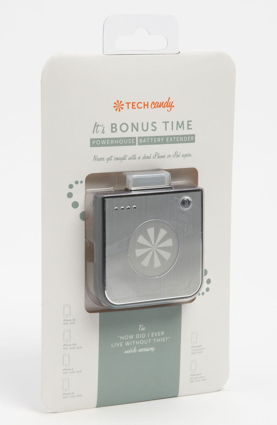 Alternate Image 1 Selected - Tech Candy 'It's Bonus Time - Powerhouse' iPhone & iPod Touch Battery Extender