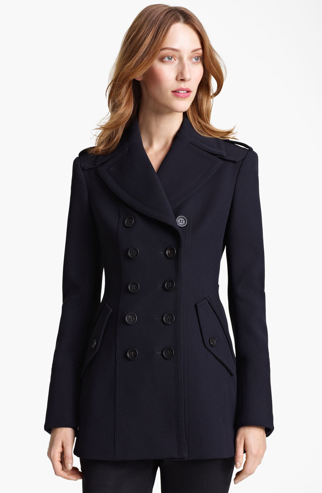 Alternate Image 1 Selected - Burberry Prorsum Double Breasted Peacoat