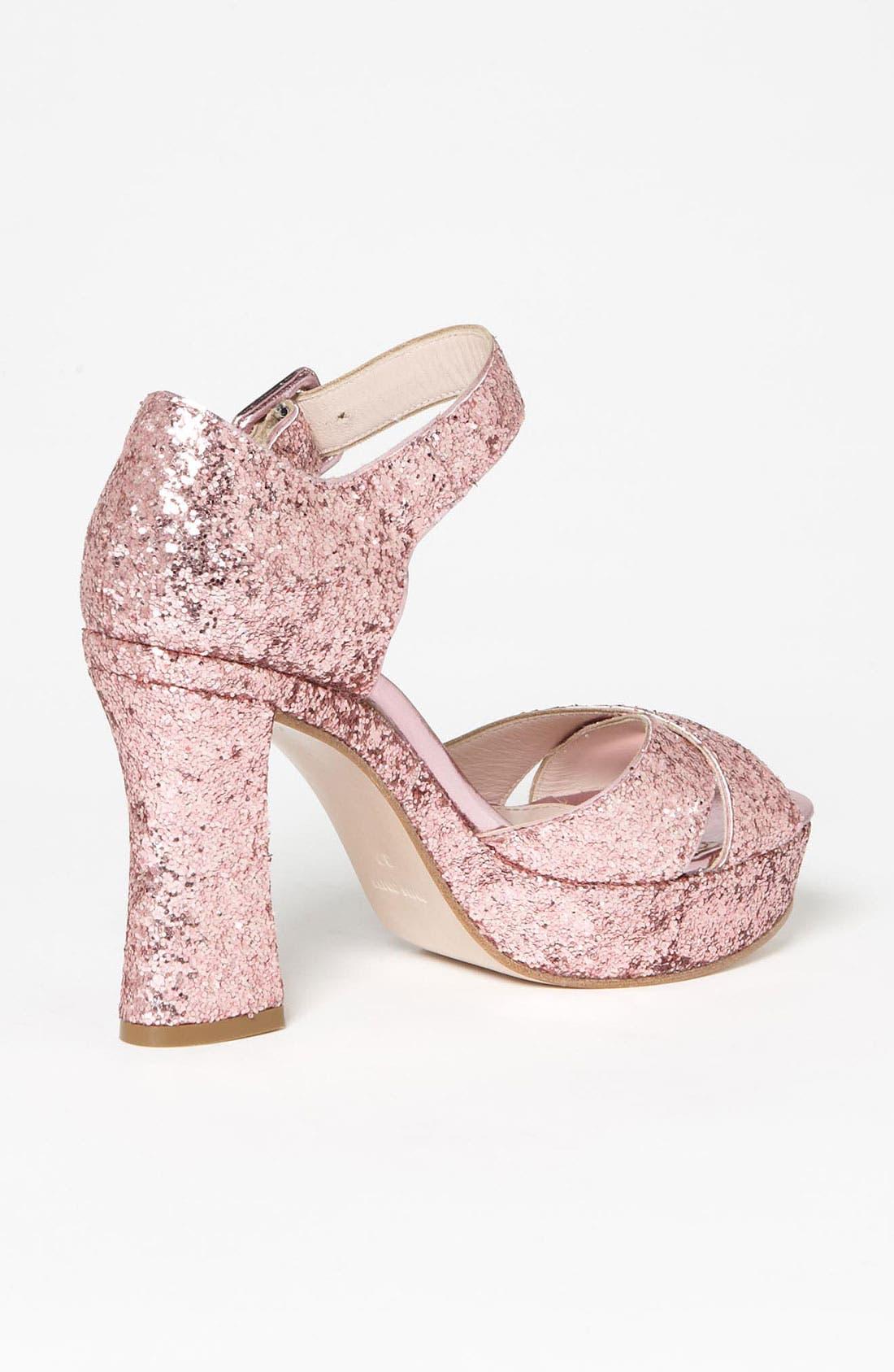 Alternate Image 2  - Miu Miu Glitter Block Heel Sandal