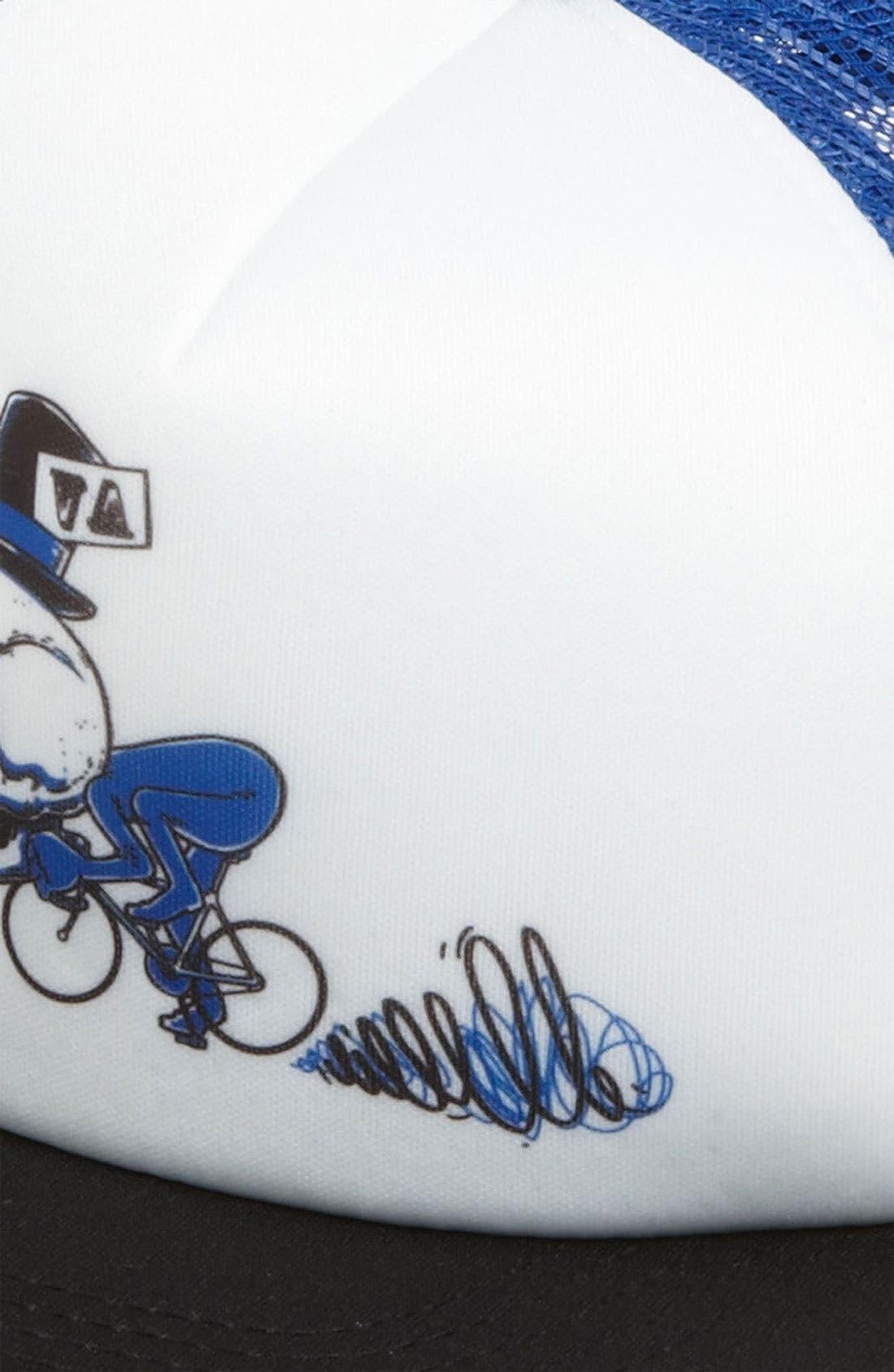 Alternate Image 2  - RVCA 'Skull Bike' Trucker Hat (Big Boys)