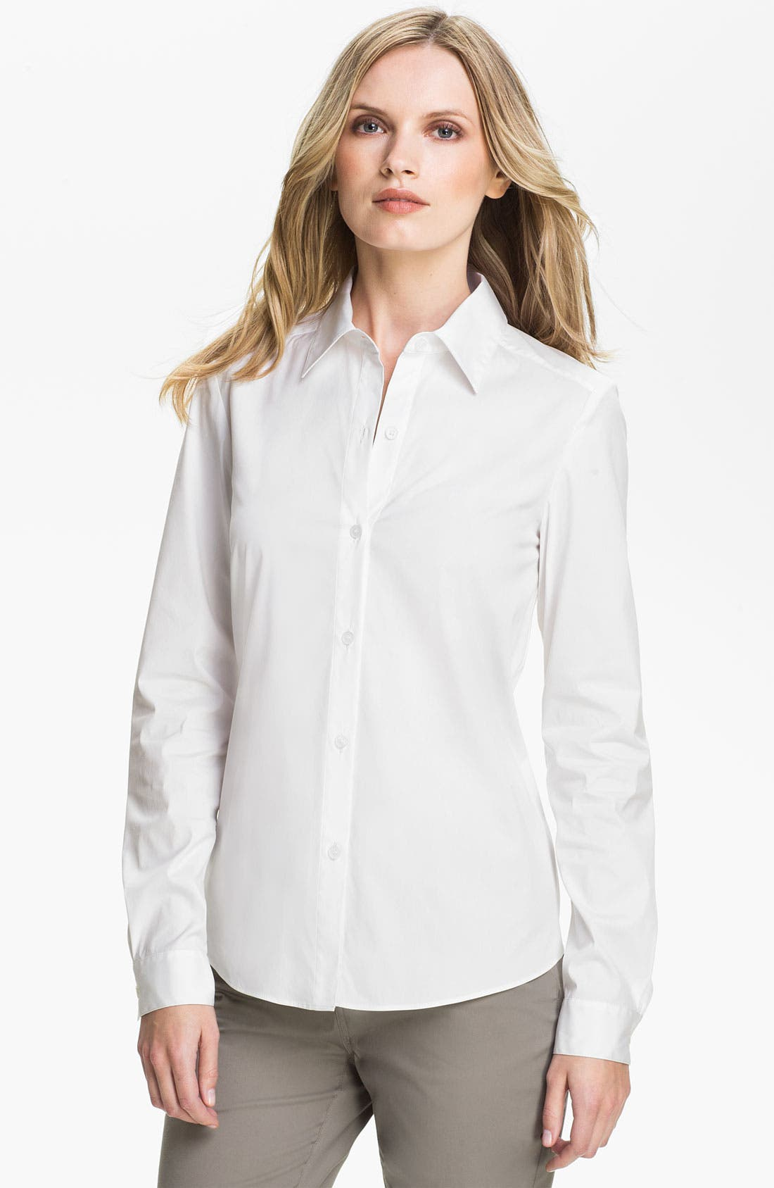 Alternate Image 1 Selected - Lafayette 148 New York Relaxed Button Front Shirt