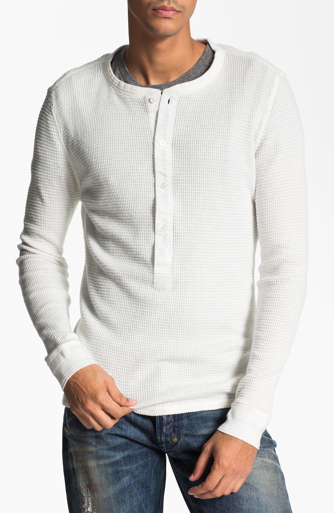 Main Image - Edun Garment Dyed Thermal Henley