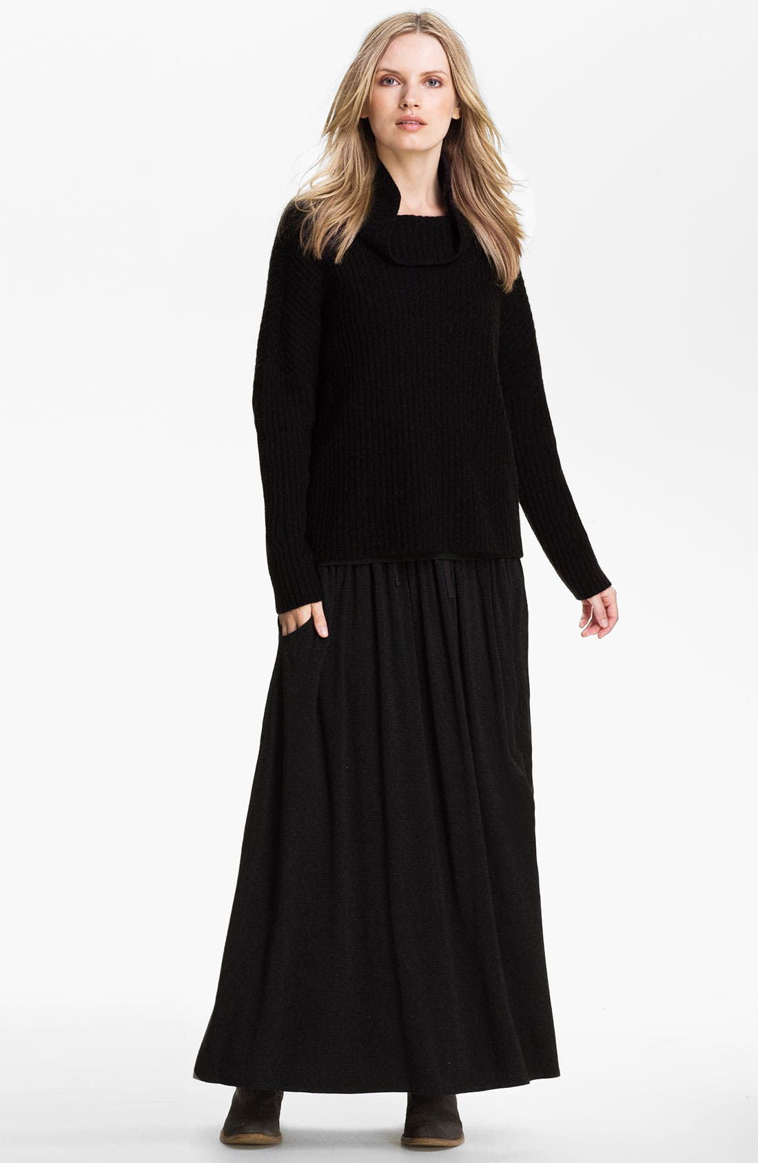 Alternate Image 4  - Eileen Fisher Drawstring Maxi Skirt (Online Exclusive)