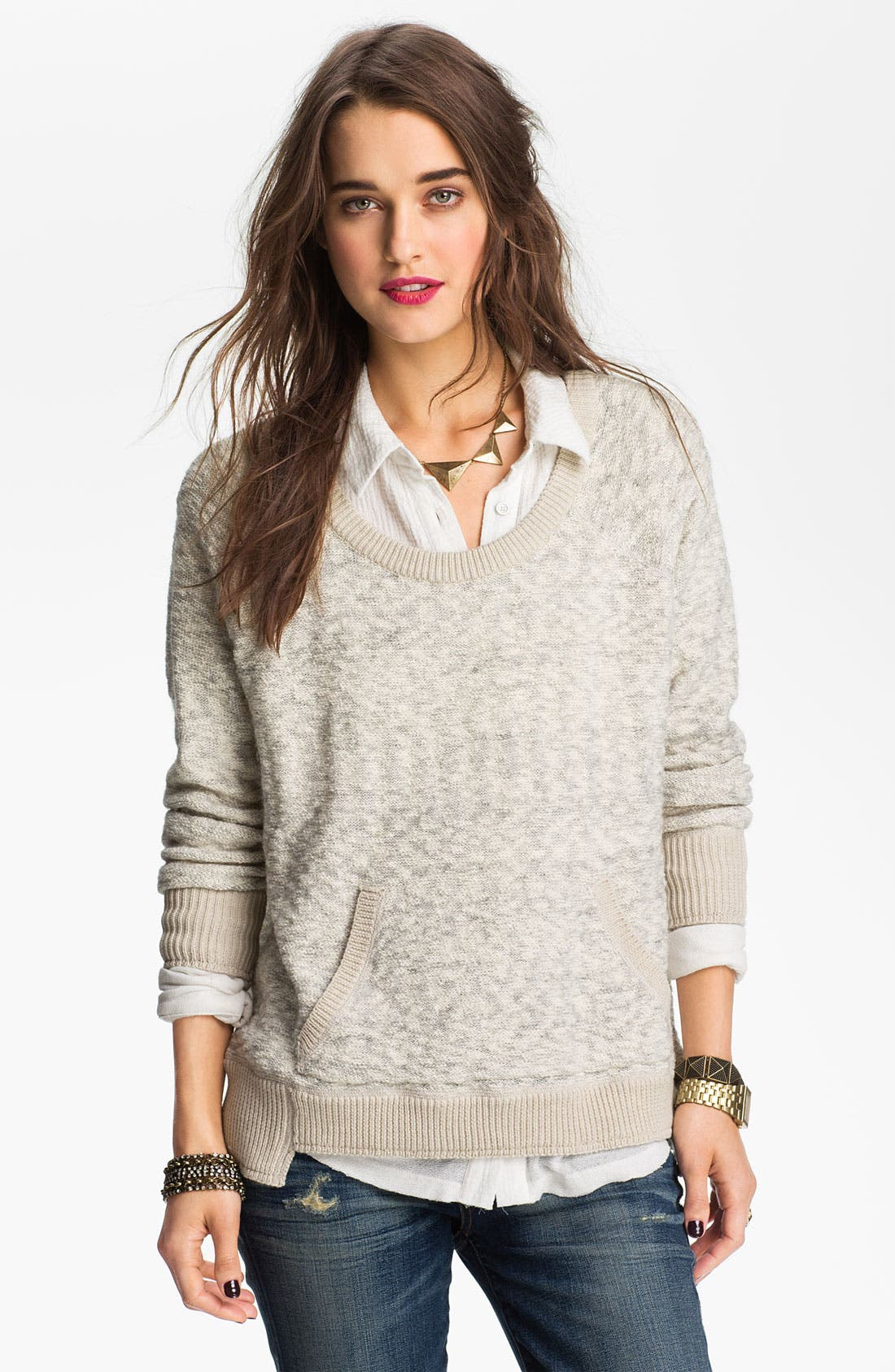 Alternate Image 1 Selected - Free People 'Moonstone' Sweater