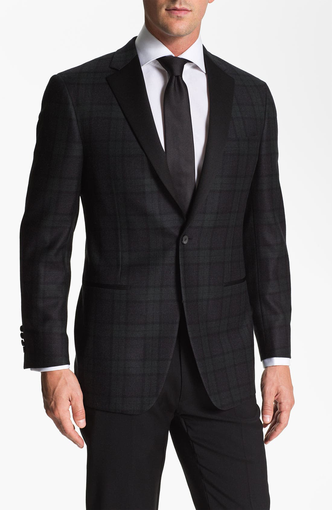 Main Image - Samuelsohn Plaid Dinner Jacket