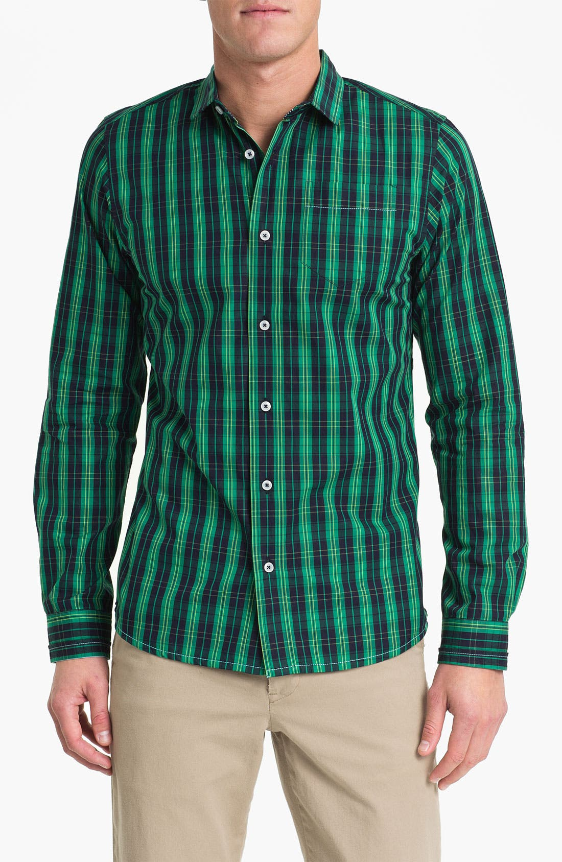 Alternate Image 1 Selected - Descendant of Thieves Tartan Plaid Woven Shirt