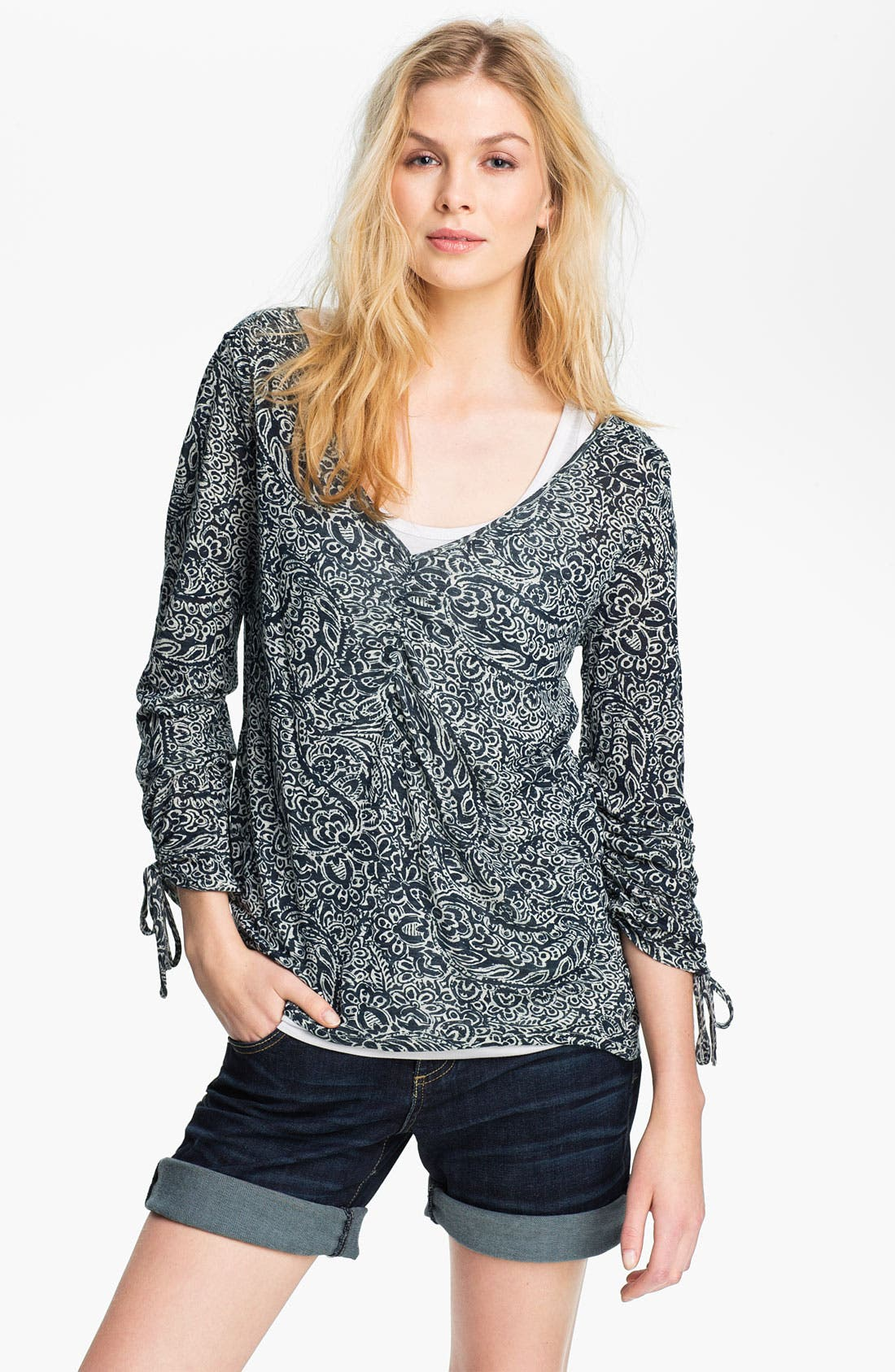 Alternate Image 1 Selected - Lucky Brand 'Mika' Paisley Top