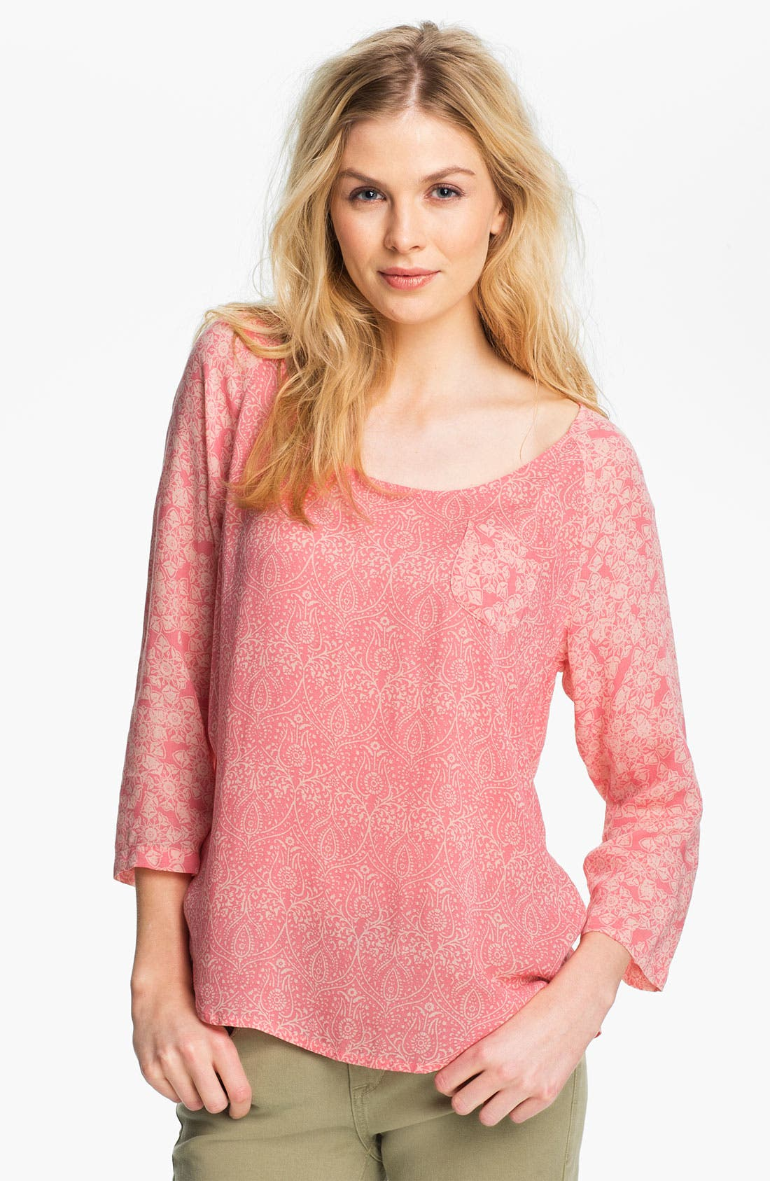 Alternate Image 1 Selected - Lucky Brand 'Maryam' Floral Tee