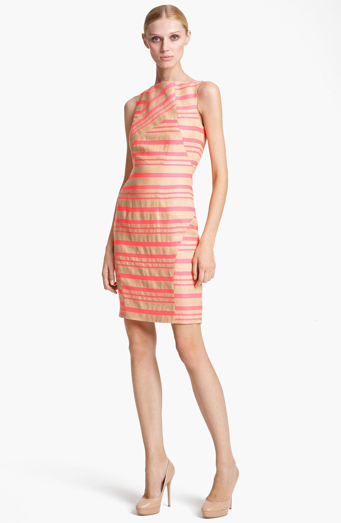 Alternate Image 1 Selected - Thakoon Pink Stripe Sleeveless Sheath Dress