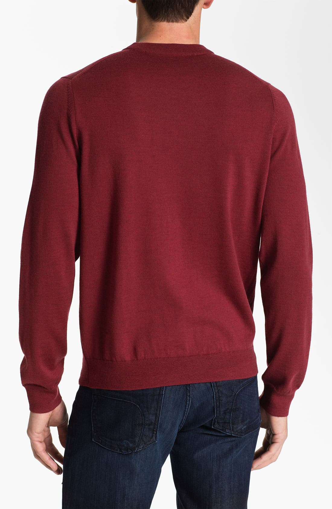 Alternate Image 2  - Nordstrom Traditional Fit Merino Wool Crewneck Sweater