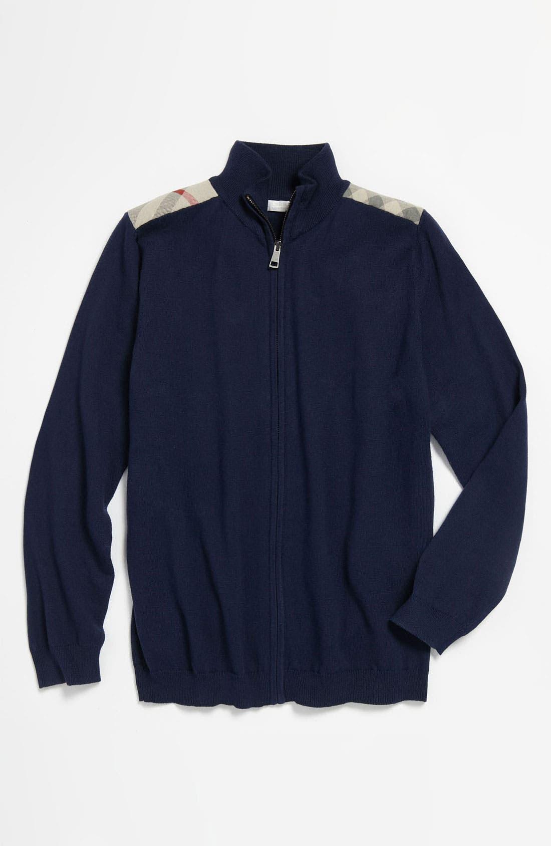 Main Image - Burberry High Neck Sweater (Little Boys & Big Boys)