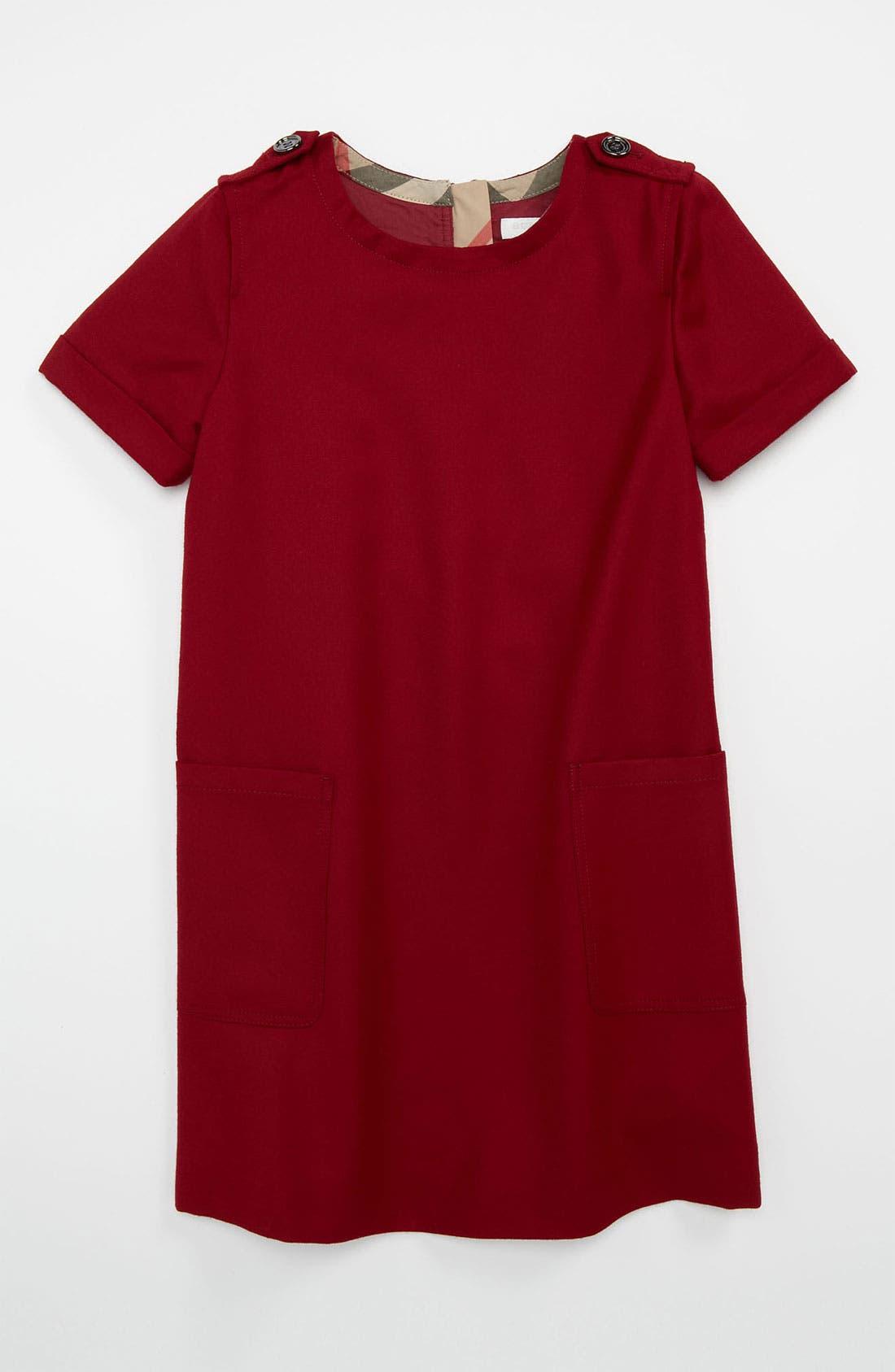 Main Image - Burberry Shift Dress (Little Girls & Big Girls)