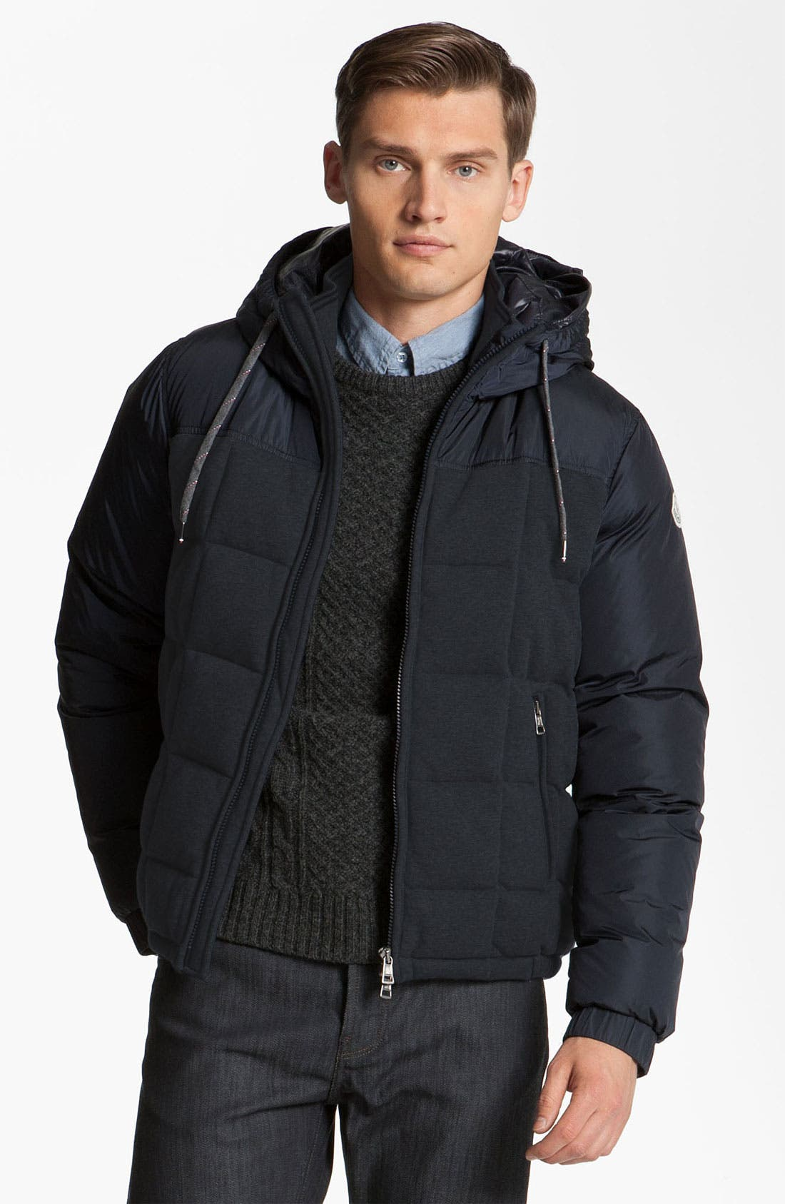 Alternate Image 1 Selected - Moncler 'Antoine' Quilted Hooded Jacket
