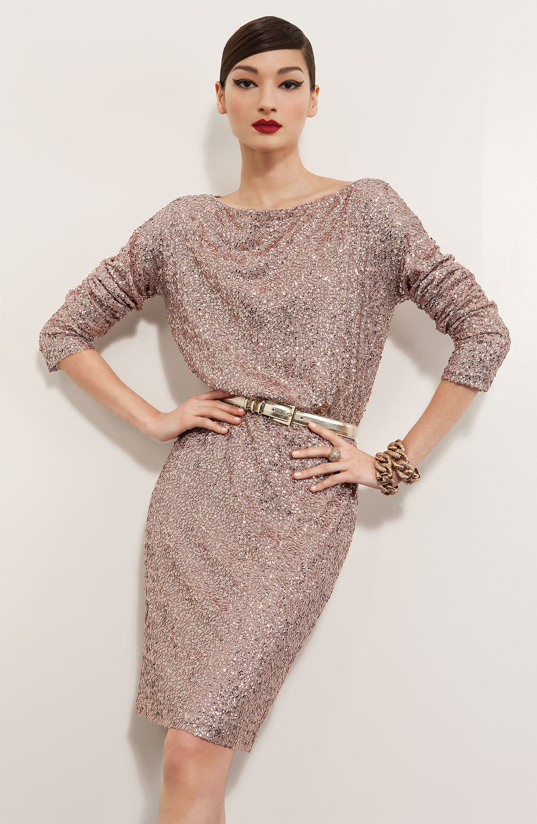 Main Image - St. John Collection Dress & Jewelry