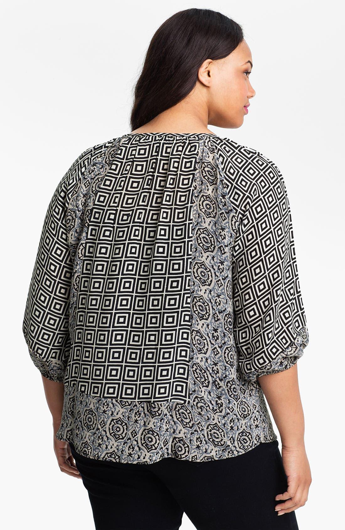 Alternate Image 2  - Tolani 'Adele' Silk Tunic (Plus Size) (Online Only)