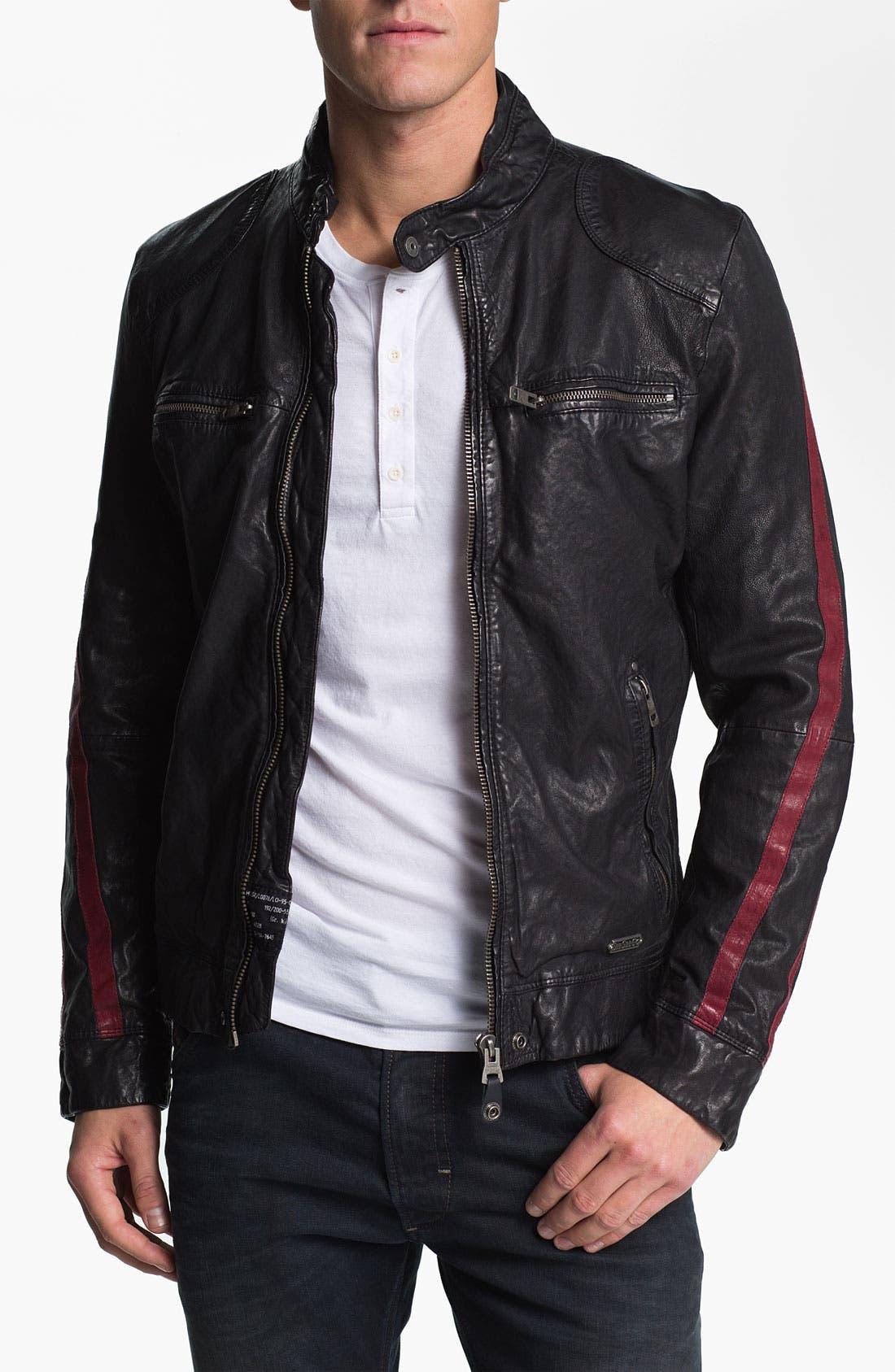 Alternate Image 1 Selected - DIESEL® 'Liris' Leather Jacket